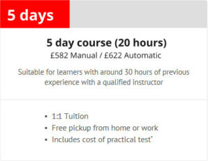 5 day intensive course Leicester